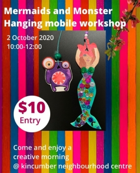 Make Your Own Mermaid or Monster Hanging Mobile