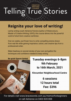Telling True Stories - Creative Writing Course