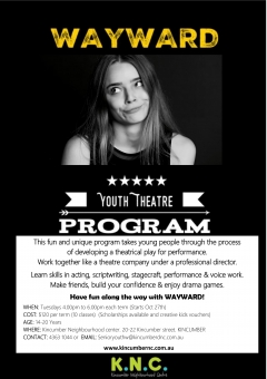 Wayward YouthTheatre Program